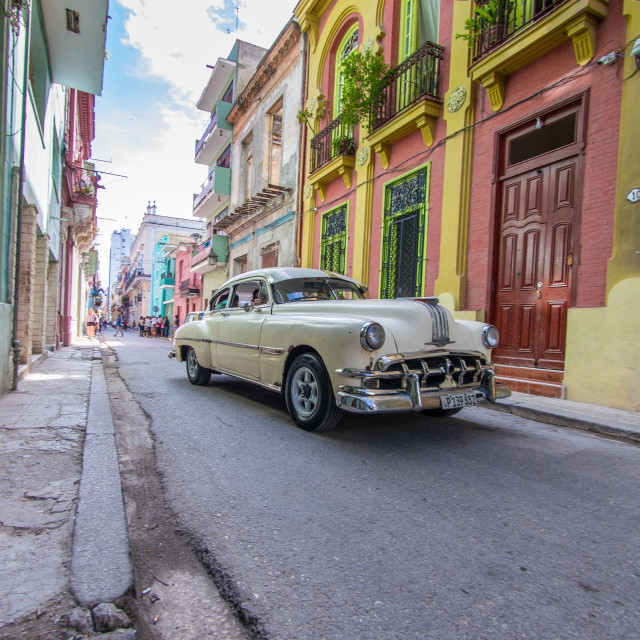 """The cars of Havana"" stock image"