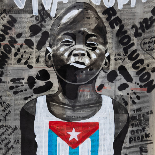 """Painting in Havana, Cuba"" stock image"