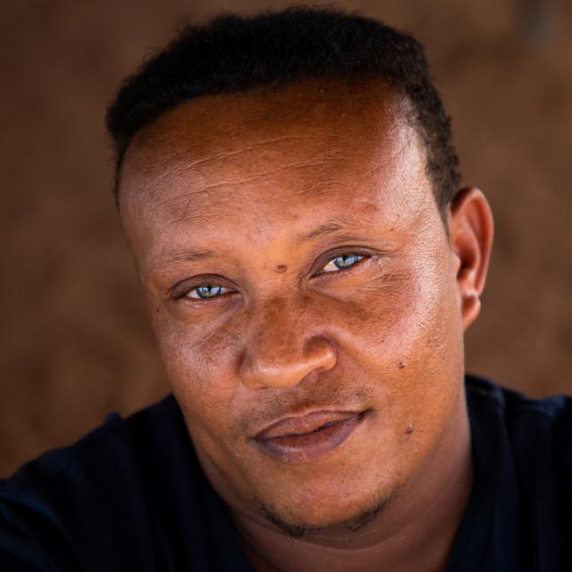 """Portrait of a sudanese man with clear eyes, Khartoum State, Khartoum, Sudan"" stock image"