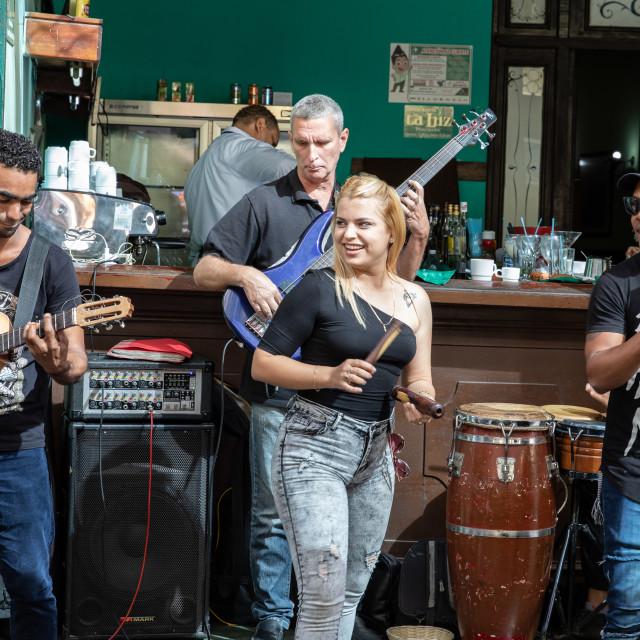 """""""Street entertainers in Havana, Cuba"""" stock image"""
