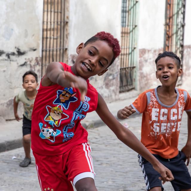 """Children of Cuba"" stock image"