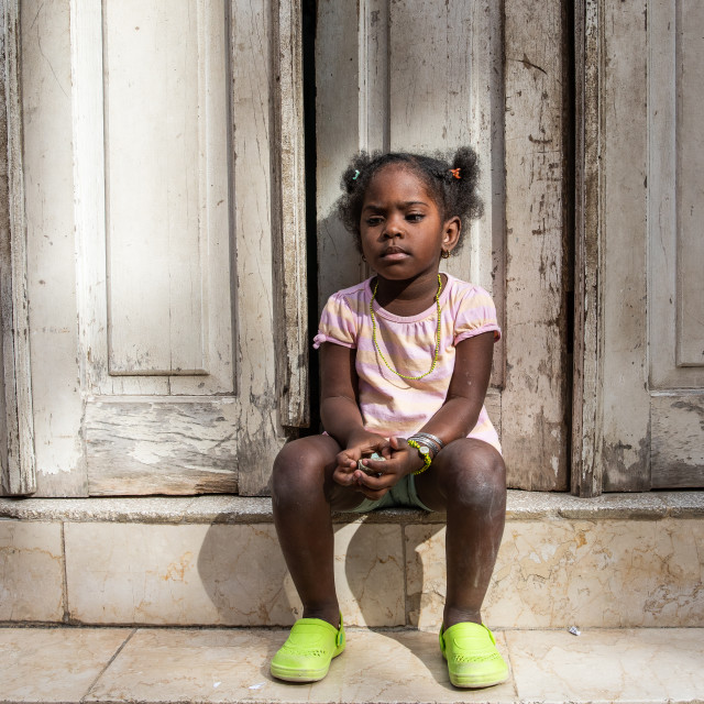 """Cuban child on the streets"" stock image"