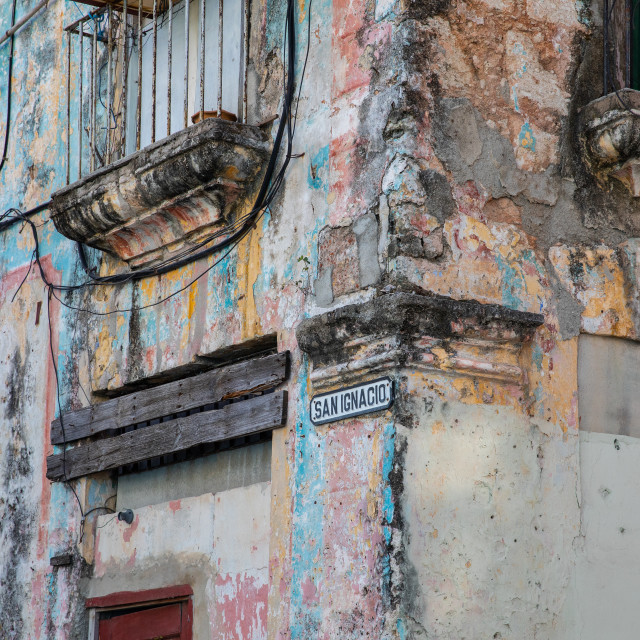 """Street corner in Cuba"" stock image"