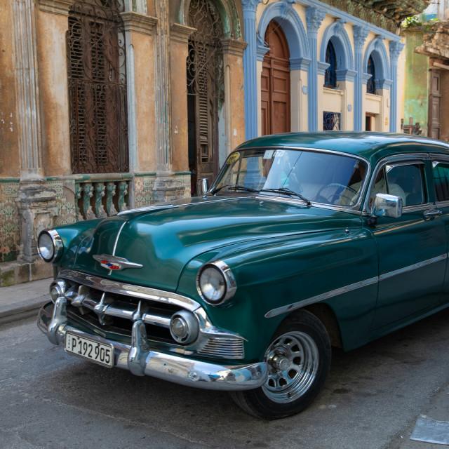"""Old cars of Havana"" stock image"
