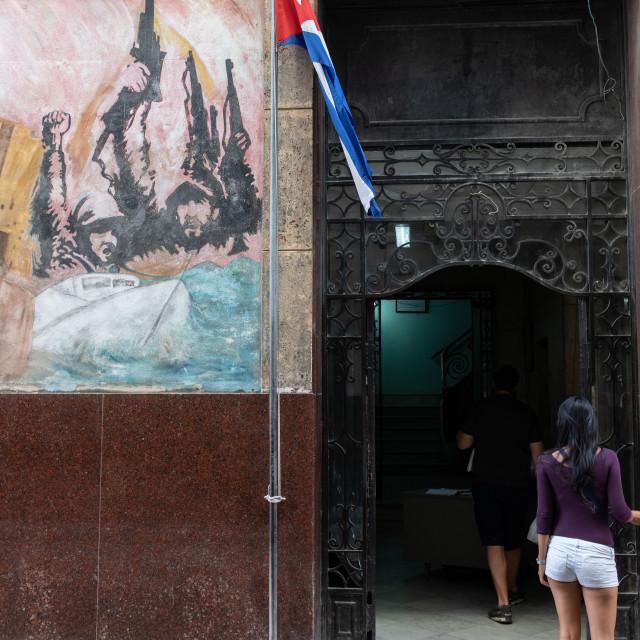 """Remembering the Cuban revolution"" stock image"