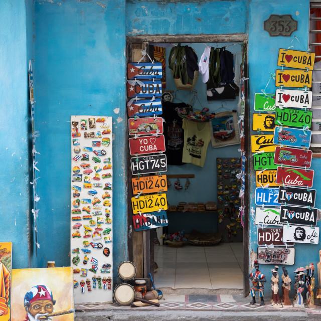 """Cuban shop front"" stock image"