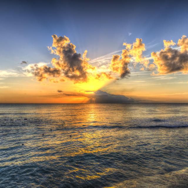 """Barbados Sunset"" stock image"