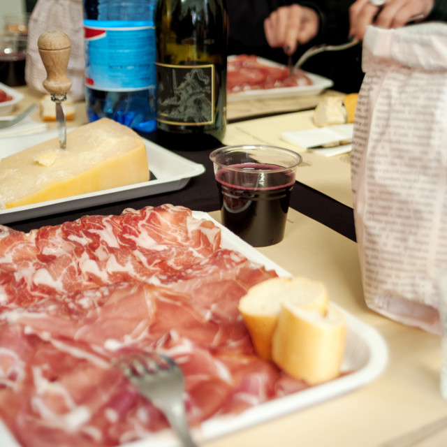 """""""Snack with Italian cold cuts. Color image"""" stock image"""
