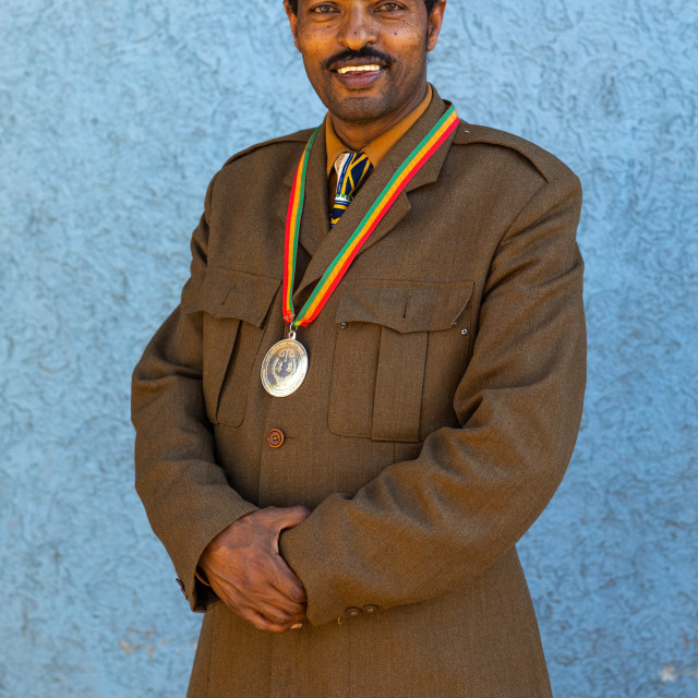 """Secretary of the patriots, Addis Abeba region, Addis Ababa, Ethiopia"" stock image"