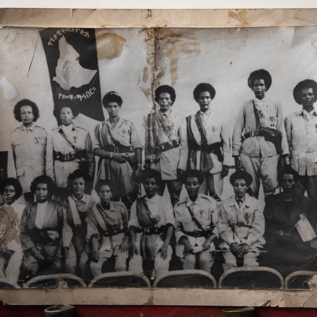 """Old picture of patriots from the italo-ethiopian war, Addis Abeba region,..."" stock image"