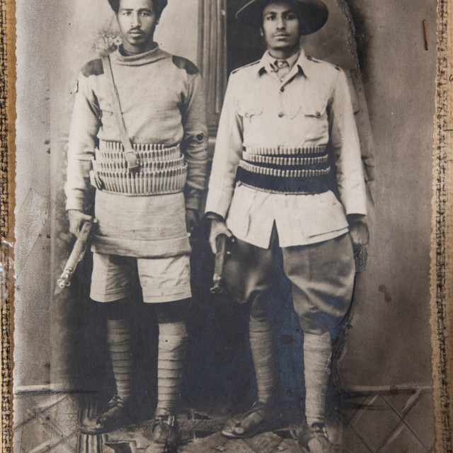 """Old pictures of patriots from the italo-ethiopian war, Addis Abeba region,..."" stock image"