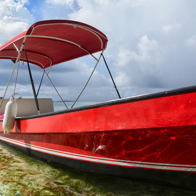 """""""Red boat"""" stock image"""