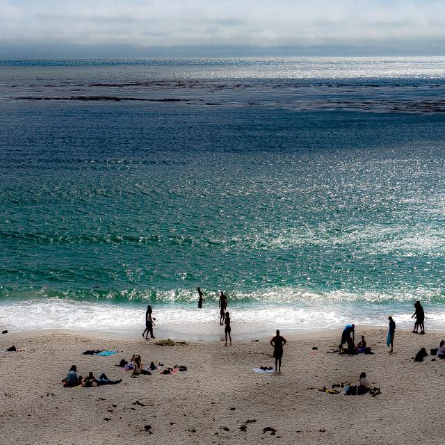 """Carmel Beach"" stock image"