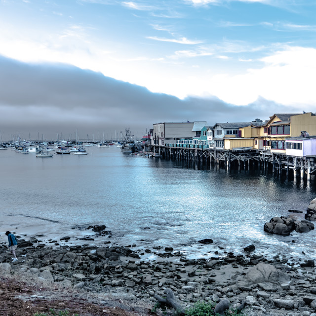 """Monterey Wharf"" stock image"