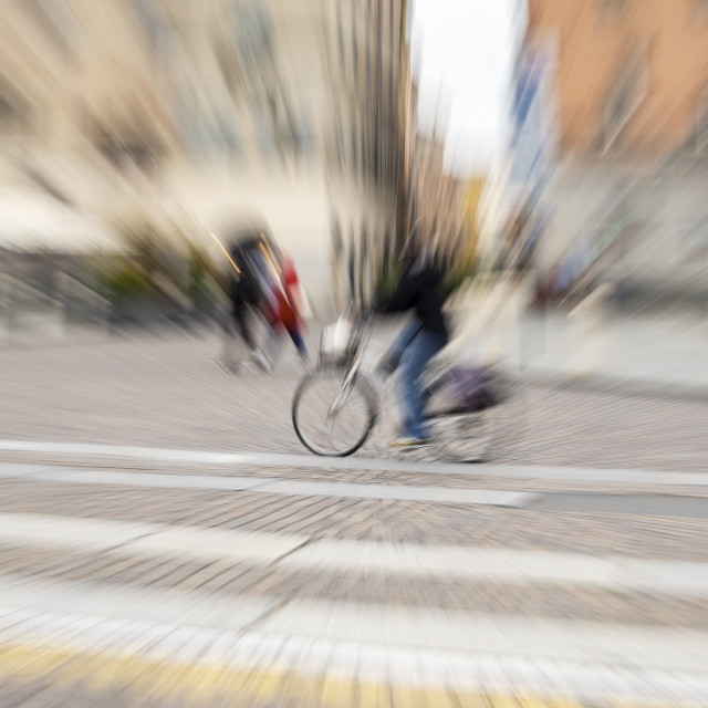 """""""Cyclist (blurred motion). Color image"""" stock image"""