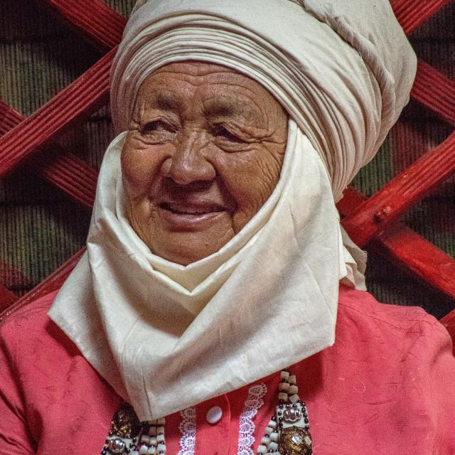 """""""Kyrgyz Woman ~ Bishkek"""" stock image"""