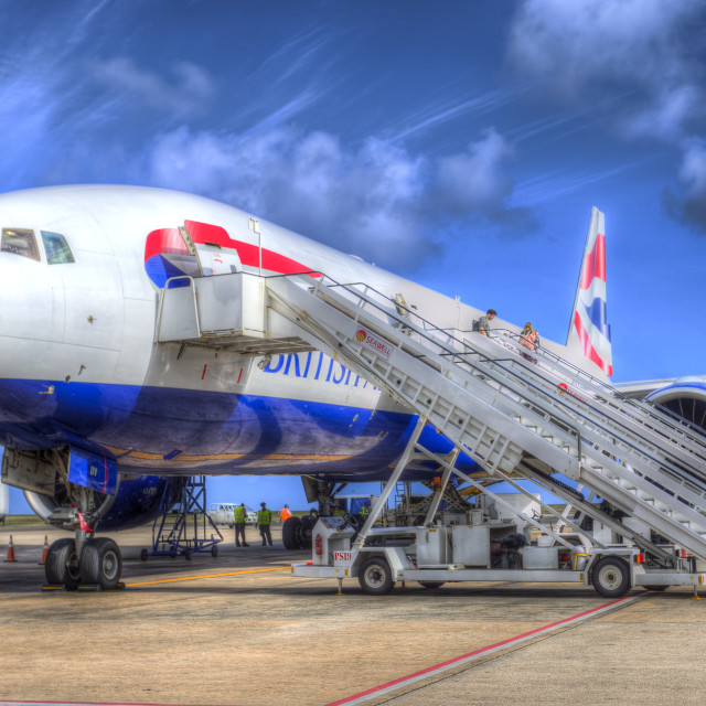 """British Airways In Barbados"" stock image"