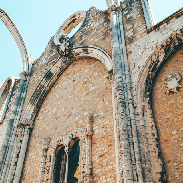 """Convent Of Our Lady Of Mount Carmel (Convento da Ordem do Carmo) Is A Gothic Roman Catholic Church Built In 1393 In Lisbon City Of Portugal"" stock image"