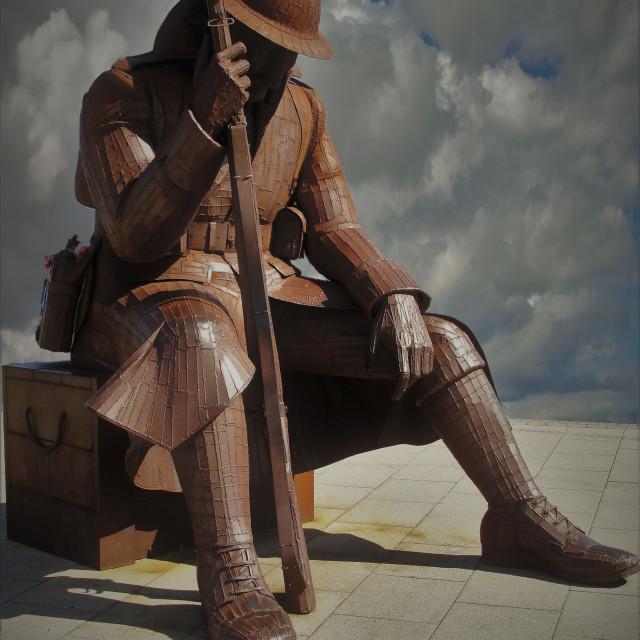"""Tommy World War One Soldier Sculpture"" stock image"