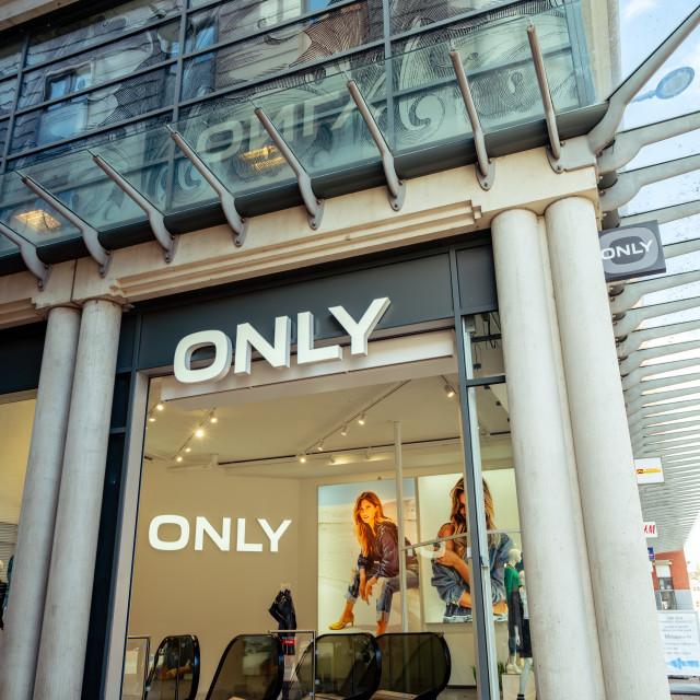 """ONLY international fashion brand"" stock image"