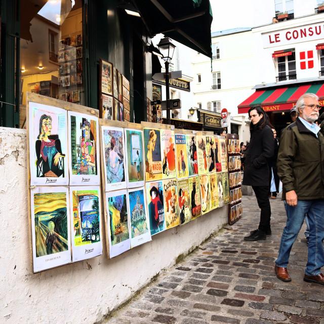 """interesting streets of historic Montmatre"" stock image"
