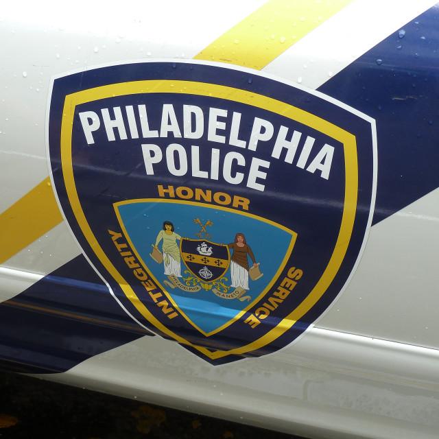 """""""Fake Philadelphia police car logo"""" stock image"""