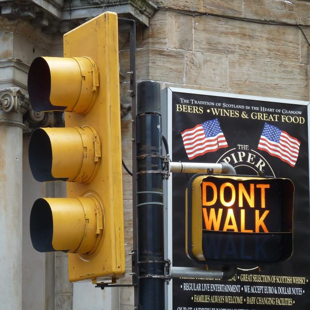 """Fake American traffic lights"" stock image"