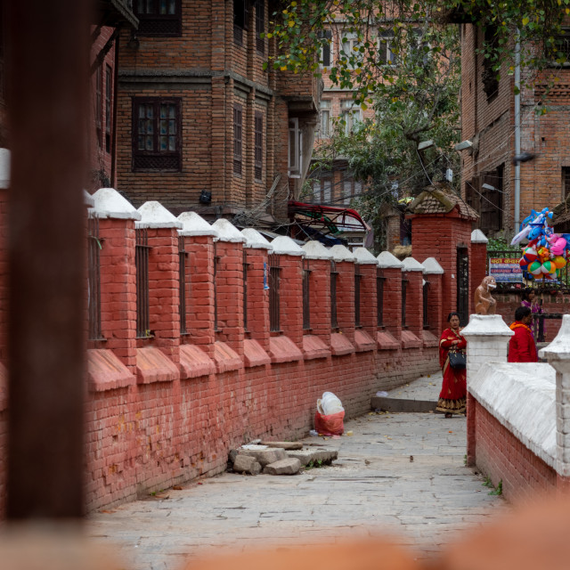 """Temple in Patan Durbar Marg"" stock image"