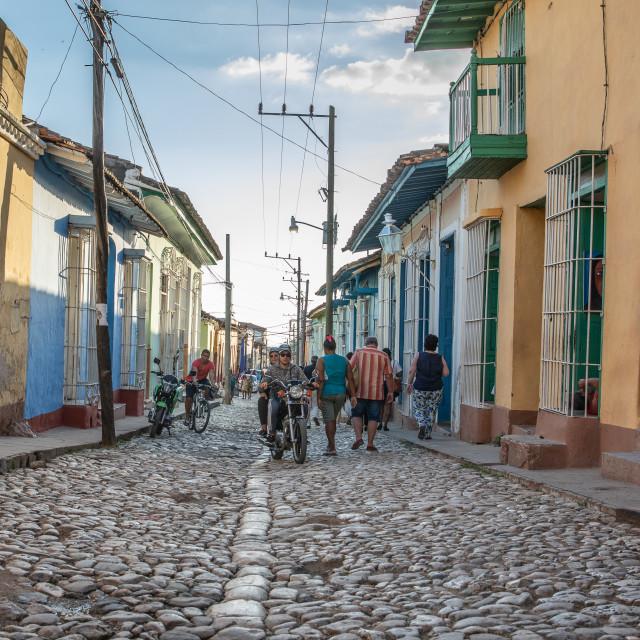 """The streets of Trinidad, Cuba"" stock image"