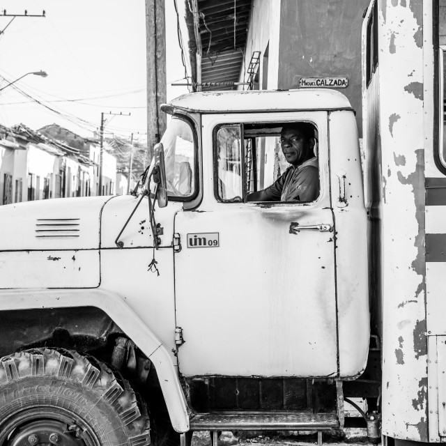 """Truck driver in Cuba"" stock image"