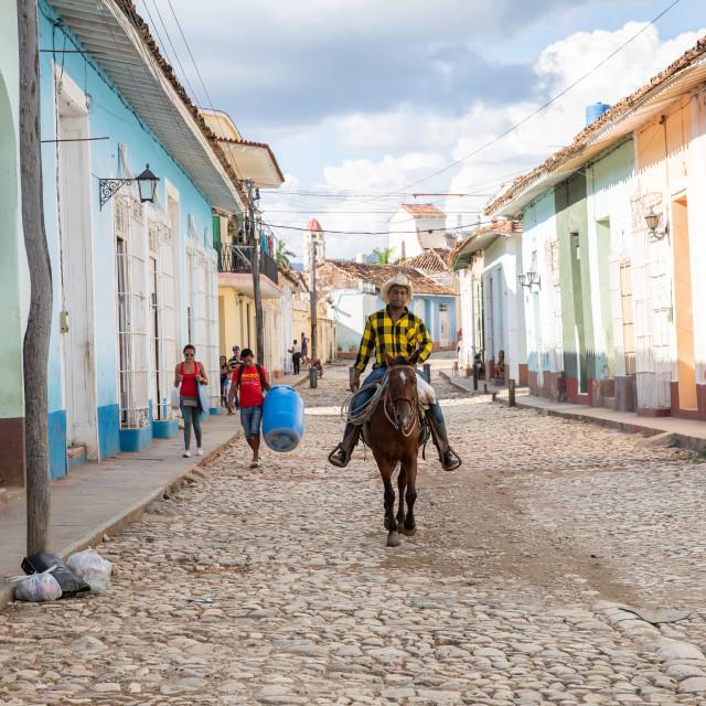 """Horse rider in Cuba"" stock image"