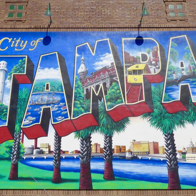 """""""Tampa Mural"""" stock image"""