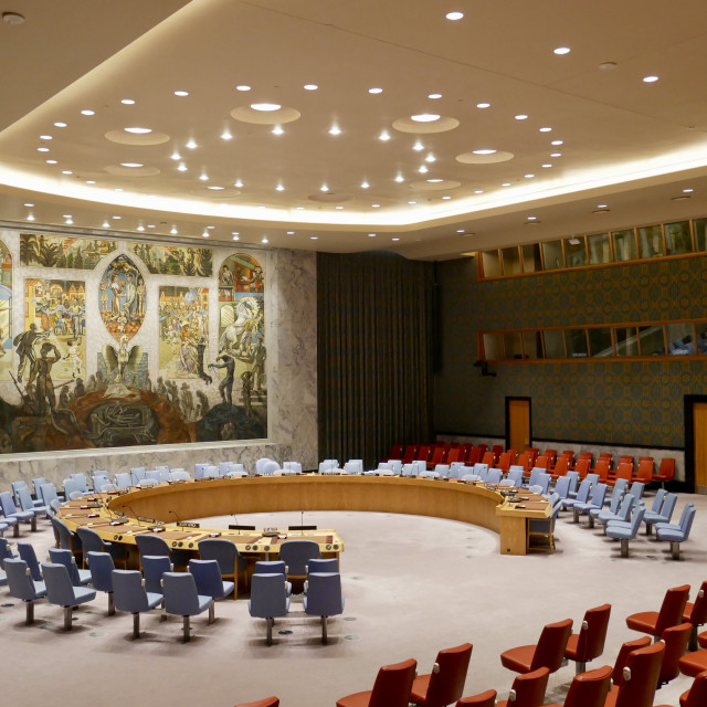 """United Nations New York City Security Council"" stock image"