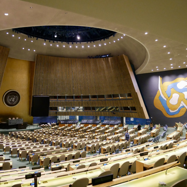 """United Nations New York City General Assembly"" stock image"