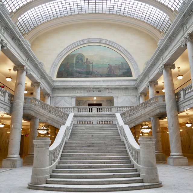 """Utah State Capitol interior Salt Lake City"" stock image"