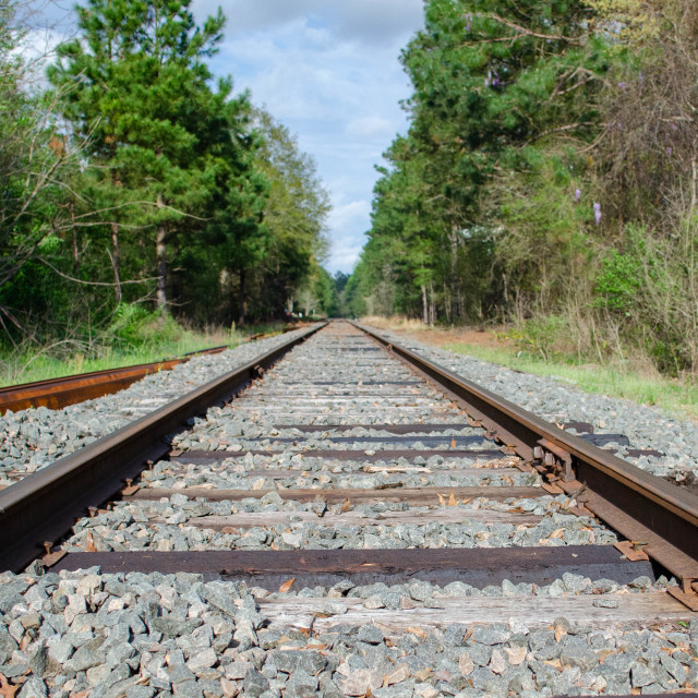 """""""I've been working on the railroad."""" stock image"""