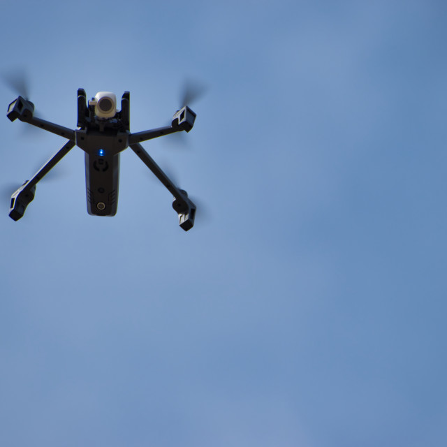 """""""Drone parrot anafi flying"""" stock image"""
