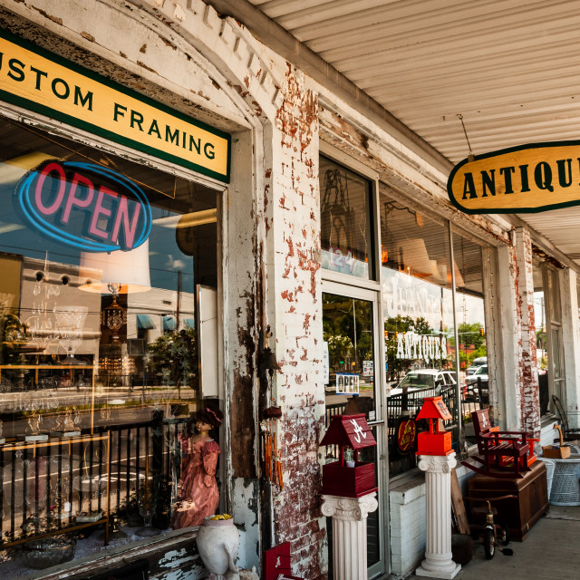 """""""Antique Store in the Old South in the United States"""" stock image"""