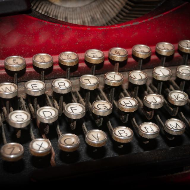 """Vintage Typewriter in Antique Shop"" stock image"
