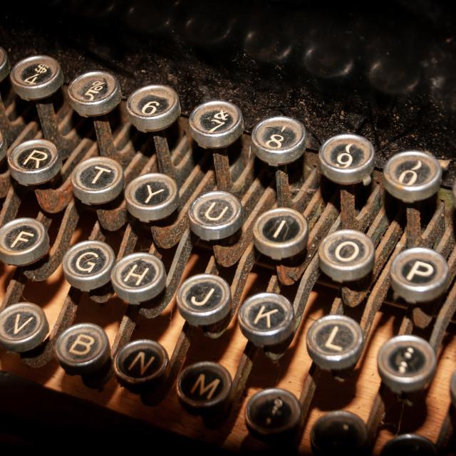 """""""Old Antique Typewriter Keys"""" stock image"""