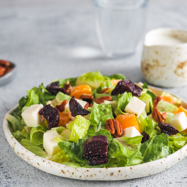 """Beetroot, Feta Cheese and Orange Salad."" stock image"