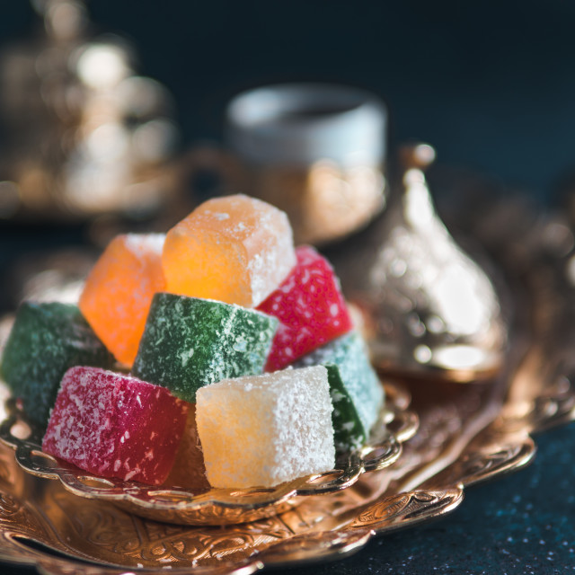 """Turkish delight and turkish coffee"" stock image"
