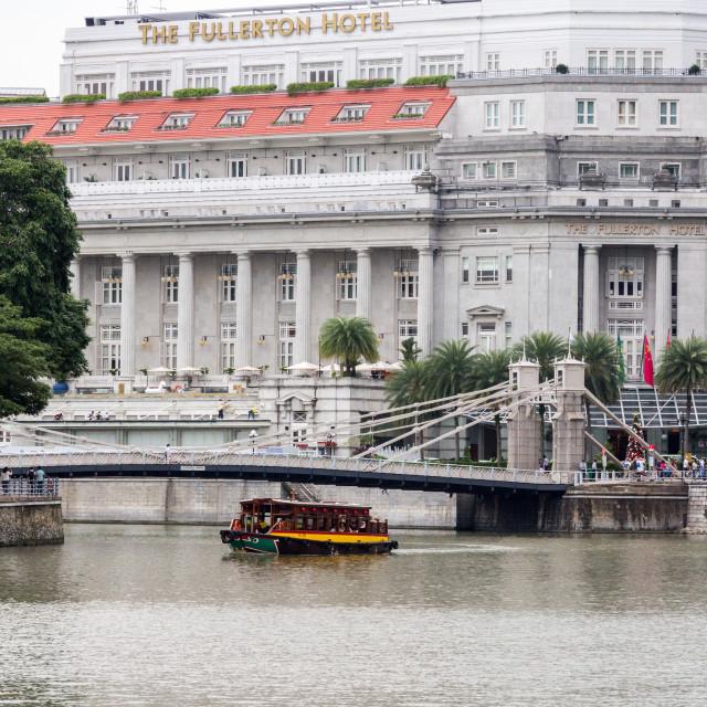 """The Fullerton Hotel, Singapore"" stock image"