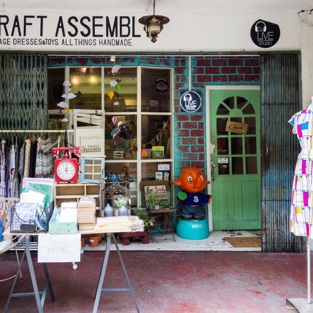 """Craft handmade shop"" stock image"