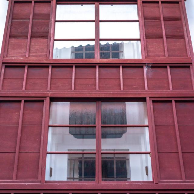 """Wooden house in Higashichaya old town, Ishikawa Prefecture, Kanazawa, Japan"" stock image"