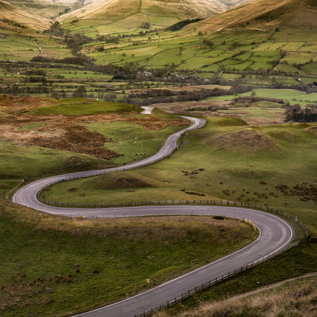 """""""The Road to Edale"""" stock image"""