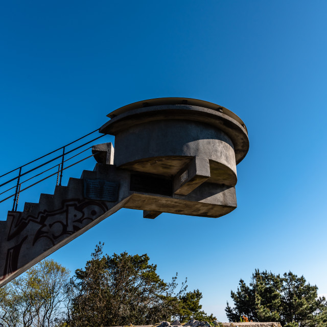 """Viewpoint of El Fito. Concrete structure against sky"" stock image"