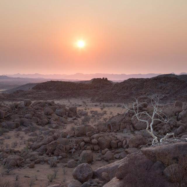 """""""Demaraland sunset, Namibia"""" stock image"""