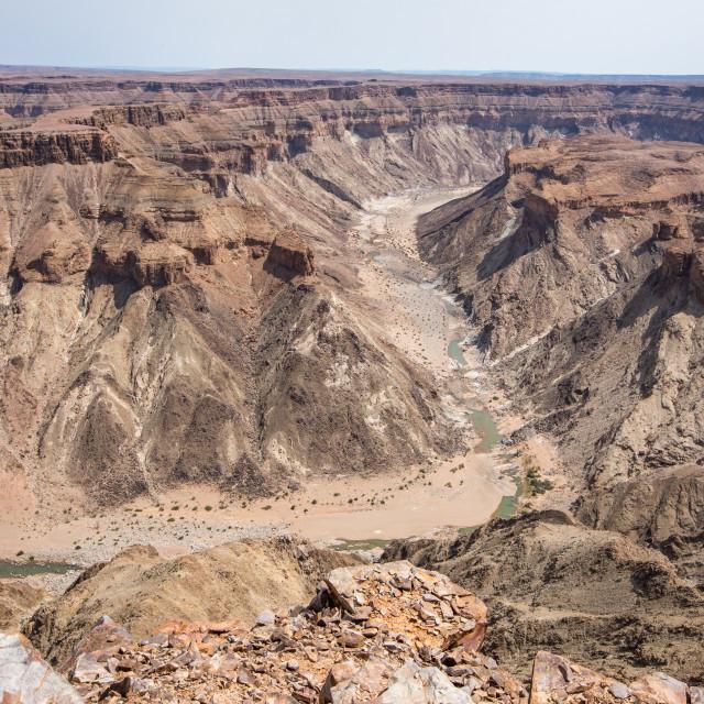 """""""Fish River Canyon, Namibia"""" stock image"""