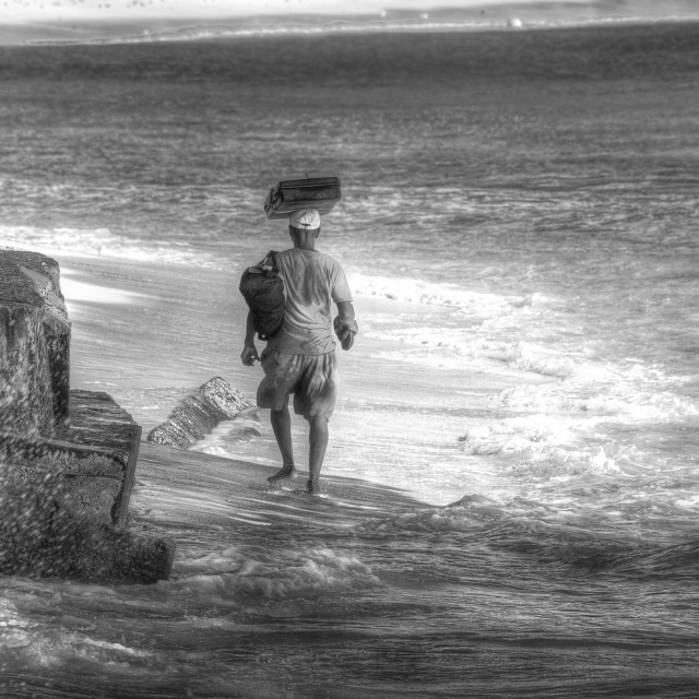 """Barbados Beach Vendor"" stock image"